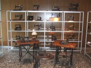 Old Bernina Sewing machines at the Bernina Museum